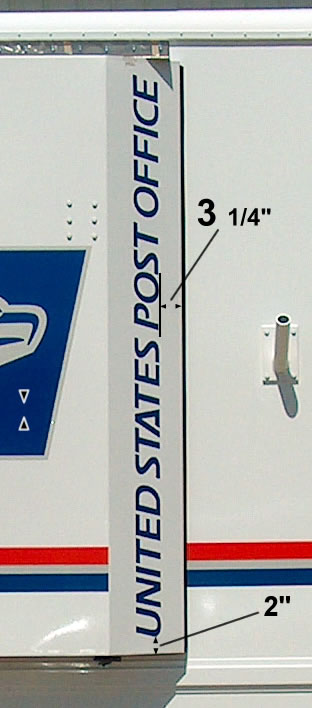 U S  Post Office On Wheels - Exterior Vehicle Decals